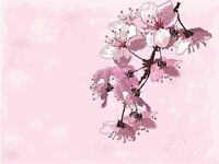 ART PRINT POSTER PAINTING DRAWING FLOWERS PETALS PINK SOFT PRETTY LFMP0414