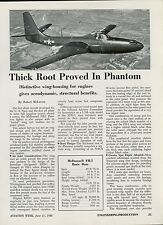 1948 Aviation Article McDonnell FH-1 Phantom Jet Fighter Specs Details Photos