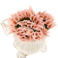 144pcs Mini artificielle Calla Lily mariée Bouquet de fleurs Décor rose