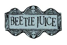 Beetlejuice Patch Iron on Applique Dark Alternative Gothic Punk Emo Betelgeuse