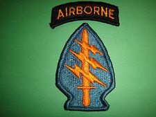 US Army AIRBORNE Tab And SPECIAL FORCES Patch