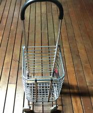 Shopping Cart Carts Trolley Aluminium Foldable Luggage Wheels Folding Basket -Br