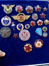Set of vintage Jna cap and breast badges yugoslav peoples army