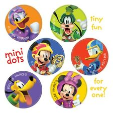 120 Mickey Mouse Roadster Mini Dot STICKERS Party Favors Birthday Supplies