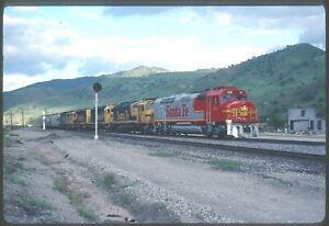 Original slide- ATSF Santa Fe FP45 #106 (Short Lived #) & Train At Caliente,CA.
