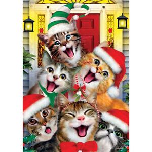 Christmas Cats Holiday Decorative Flag
