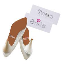 """Schuhsticker  """"Team Bridge"""" 5 Stk. Schuh Aufkleber, Aufkleber Brautschuhe - weiß"""