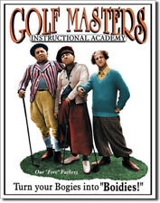 Golf Masters Instructional Academy The Three Stooges Retro Humor Metal Sign