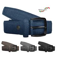Cintura Uomo Pelle Elegante Cinta Blu Grigio Nera Marrone Casual Classica Cerimo