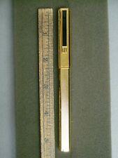 Dunhill Gemline Classic Dress Fountain Pen Black Line Clip Vermeil