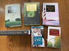 Lot of 6 Nicholas Sparks Book Collection: 4 Hard Back & 2 Paperback ~GC
