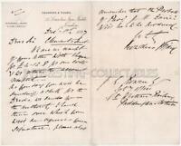 1897 LETTER - Crowders & Vizard to GREAT WESTERN RAILWAY Paddington - Ephemera