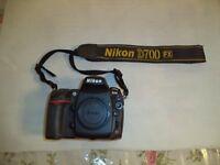 Nikon D700 12.1MP Digital SLR FULL FRAME camera.