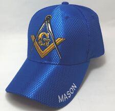 Mason Cap, Masonic Cap, Freemason Cap One Size Adjustable Royalblue