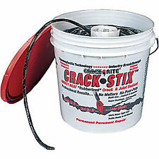 CRACK STIX Crack Filler Rope,10 lb.,Pail, 2060, Black