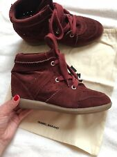 Authentic Isabel Marant Bobby Suede Wedge Sneakers UK7 EU40