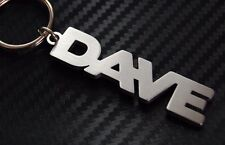 DAVE Personalised Name Keyring Keychain Key Fob Bespoke Stainless Steel Gift