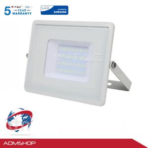 FARO FARETTO LED SMD V-TAC CHIP SAMSUNG PRO10/20/30/50/100W SLIM DA ESTERNO IP65