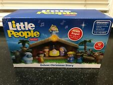 FISHER PRICE LITTLE PEOPLE NATIVITY 12- FIGURE SET DELUXE CHRISTMAS STORY