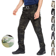Men's Military Cargo Pants Tactical Combat Waterproof Casual Trousers Camouflage