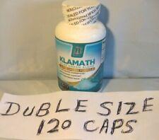 BRI Nutrition DOUBLE SIZE (120 CAPS) Klamath Blue Green Algae NEW SEALED