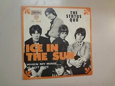 "STATUS QUO:Ice In The Sun-When My Mind Is Not Live-France 7"" PYE 45 PV.15299 PSL"