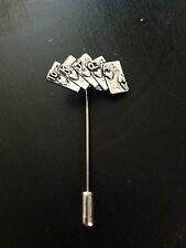 Poker cards  on a tie stick pin perfect to add onto a hat scarf collar refc10