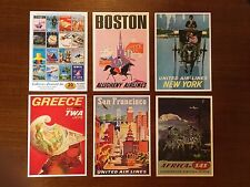 AIRLINE AIRPLANE THEME VINTAGE SET OF 20 POSTCARDS - COLLECTORS EDITION SET