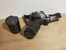 Vintage Canon AE-1 Program 35mm SLR Camera 75-200mm Lens & Wide Angle Lens