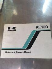 1987 Kawasaki Ke100 Ke 100 Motorcycle Owner's Manual New