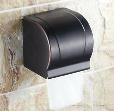Oil Rubbed Bronze Toilet Paper Holder Bathroom Tissue Box Wall Mount