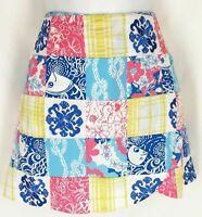 NWT LILLY PULITZER NEW $178 Casa Marina Patch Madras Print Lynch Skort Skirt 2