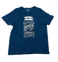 Lucky Brand Large L Graphic Tee Shirt The Man Under The Moonshine Corn Whiskey