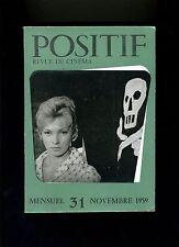 Cinéma revue POSITIF 31/1959 Bardot Venise Nazarin Bergman Je veux vivre...