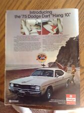 75 Dodge Dart color ad