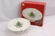 "Nikko Christmastime 10"" Pedestal Cake Plate"