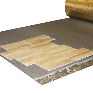 Acoustic Sonic Gold 5mm Underlay for Wood or Laminate Flooring By The Metre