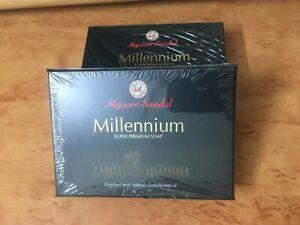 2x Mysore Sandal Soap Millenium Soap 150 gm (2x 150gms)- New packing fresh batch