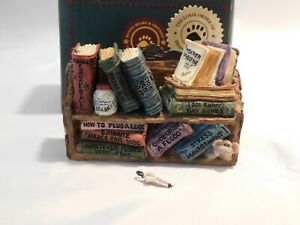 Boyds Bears Treasure Box NOAH'S BOOK SHELF (Ark) (Rare & VHTF)-Brand New in Box