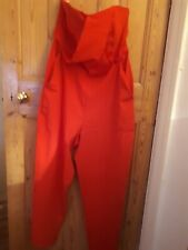Asos Red strapless All In One Red Jumpsuit Size 18