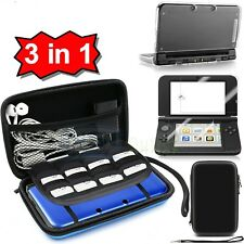 Black Carrying Bag+Clear Case Cover+Screen Protector for New Nintendo 3DS XL LL