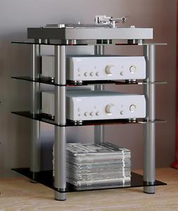 "VCM® Hifi-Möbel ""Bilus"" · 2 Farben · Rack TV-Möbel Glasmöbel"