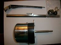"STAINLESS STEEL 12 VOLT MOTOR AND WIPER KIT,11"" ARM 10 "" BLADE, 110 DEGREE SWING"