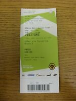 18/04/2014 Ticket: Wolverhampton Wanderers v Rotherham United  . Thanks for view