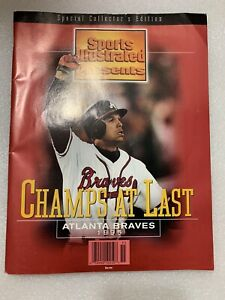 """Sports Illustrated MLB Atlanta Braves """"Champs At Last"""" 1995 Good  Condition SCE"""