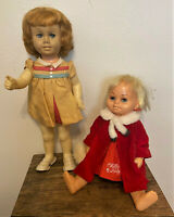 Pair of 2 Vintage 1960, 1961 Mattel Chatty Cathy & Chatty Baby Dolls