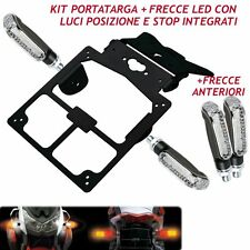 KIT PORTATARGA TARGA +4 FRECCE STOP LED  UNIVERSALE NAKED MONSTER FZ6 HORNET BMW