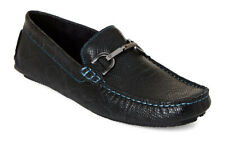 Donald J. Pliner Velix Snake Embossed Bit Slip On Loafer, Black - Size 10.5M
