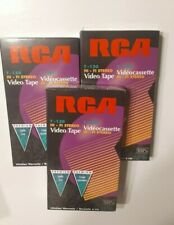 RCA Video Cassette Tapes VHS T-120 Blank **NEW SEALED** lot of 3