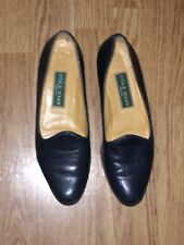 Cole Haan Woven Leather Slip On Flat Moccasin Loafers women's shoes